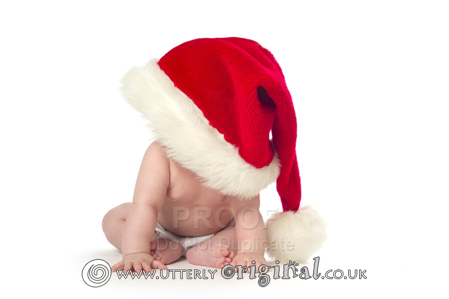 my first christmas baby photography,